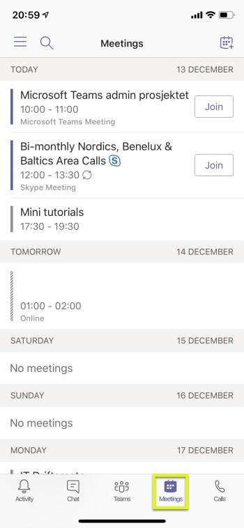Schedule Teams meetings on a mobile device | Teams rocks