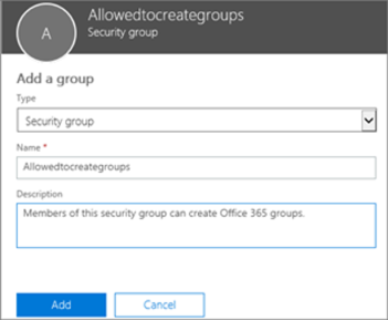 Allowedtocreategroups